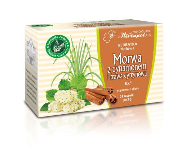 herbatka suplement diety morwowa z cynamonem trawą cytrynową od herbapolu