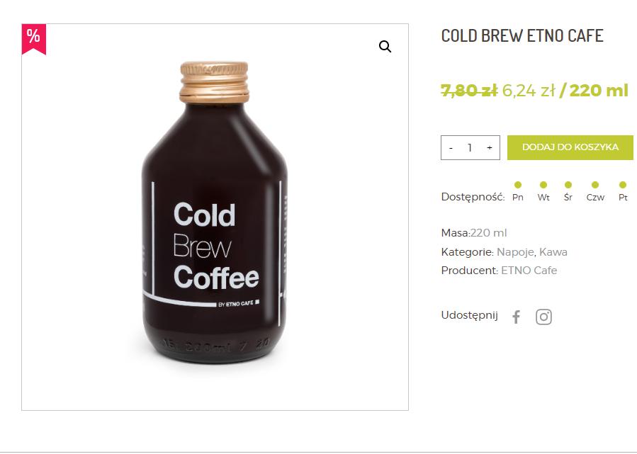 Promocja -20% na Cold Brew z Etno Cafe i sok pomidorowy